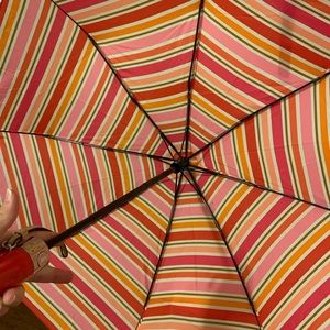 Coach Striped Pink and Orange Umbrella